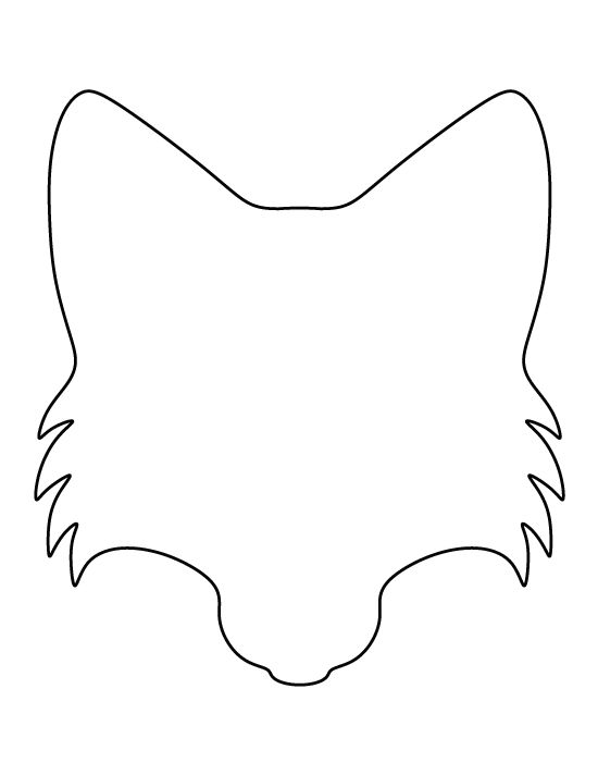 Fox face pattern. Use the printable outline for crafts, creating ...