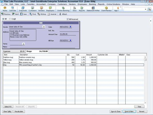 Enter a Bill if You Have Recorded an Item Receipt in QuickBooks ...