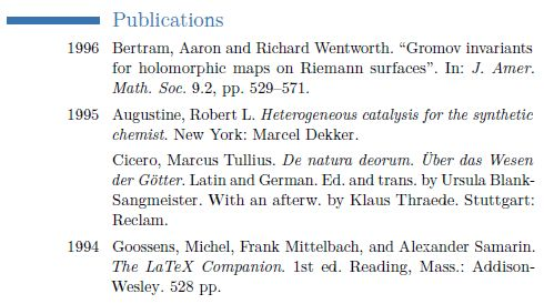 Sorted list of publications in moderncv from bibtex - TeX - LaTeX ...