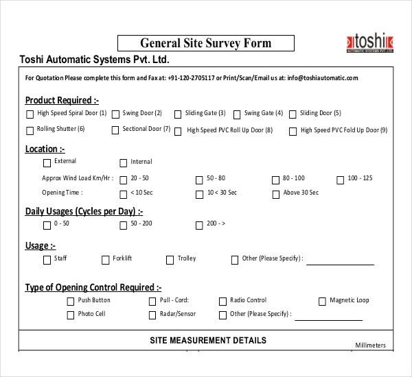 Site Survey Template – 10+ Free Word, PDF Documents Download ...