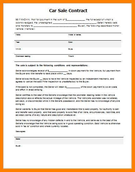 9+ car sale agreement word doc | dialysis-nurse