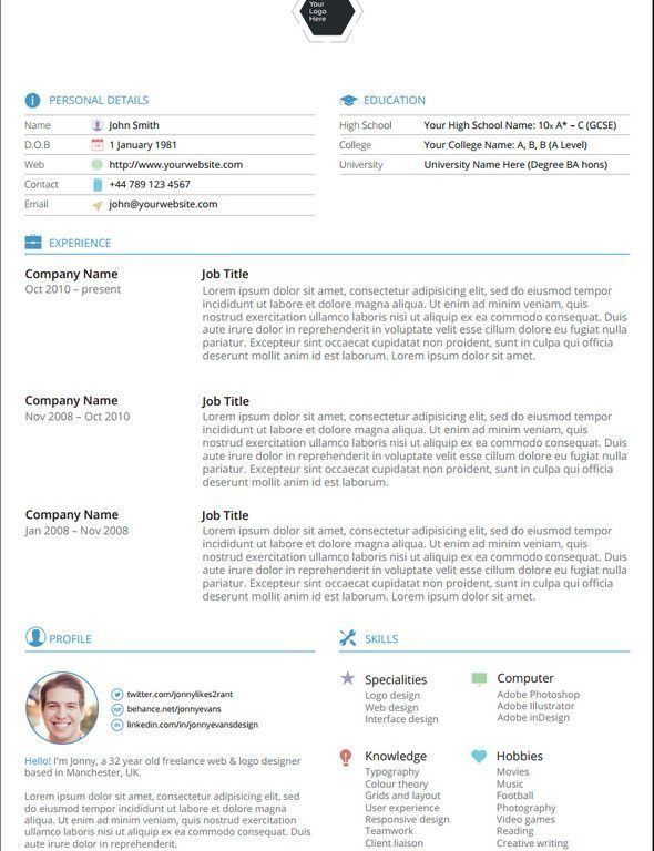 Very Attractive Design Resume Template Doc 5 30 Best Free ...