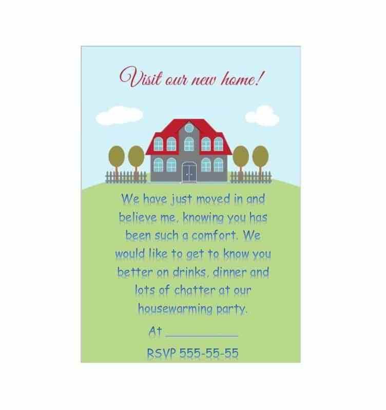 House Warming Invitation Template - Contegri.com