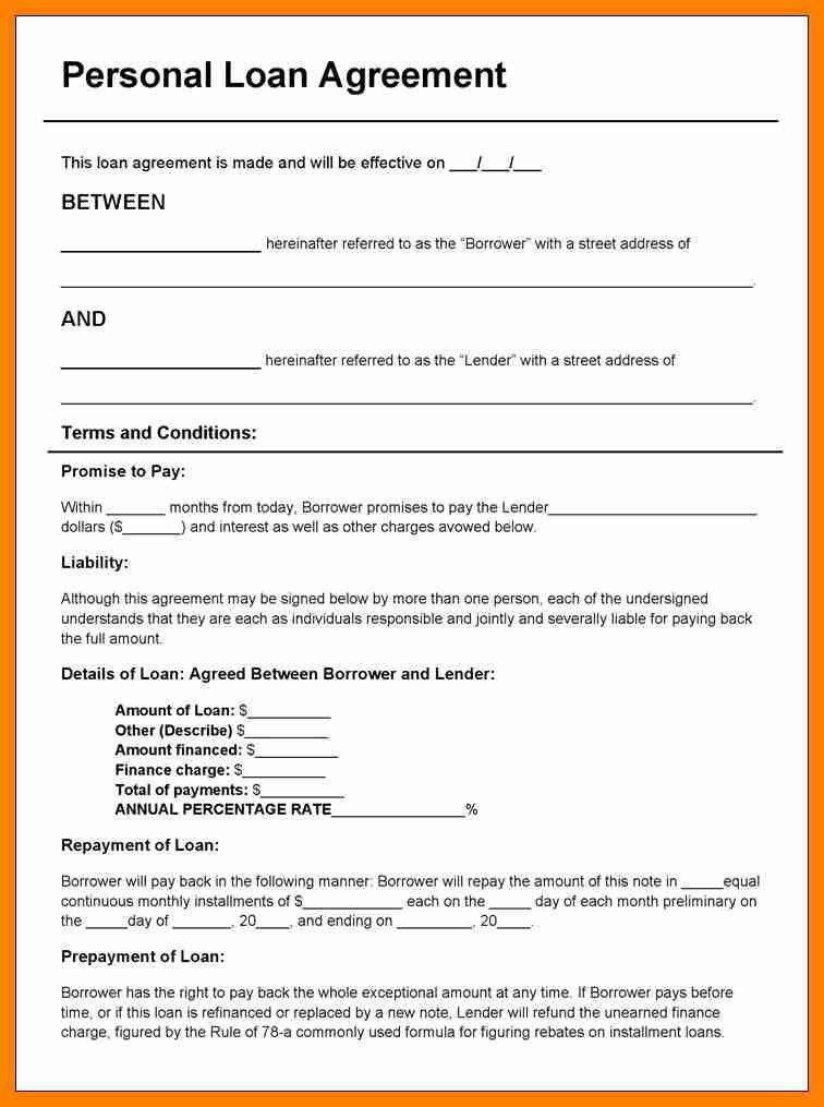 6+ blank loan agreement form | beverage-carts