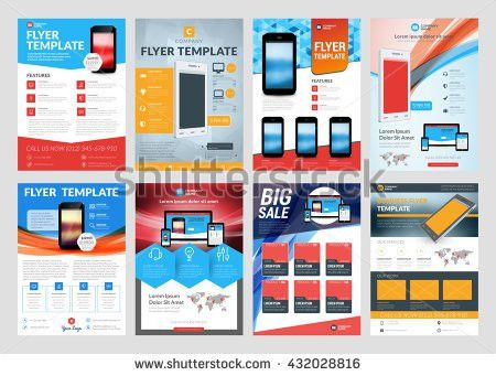 Set Vector Business Flyer Design Templates Stock Vector 432028816 ...