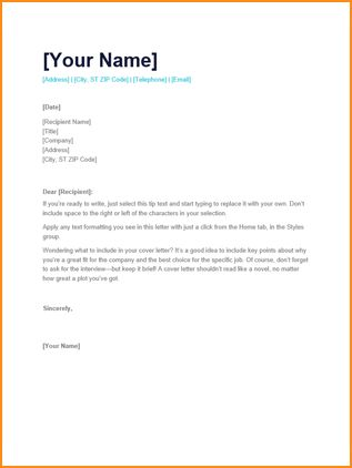 7+ simple cover letter for job application - Basic Job Appication ...