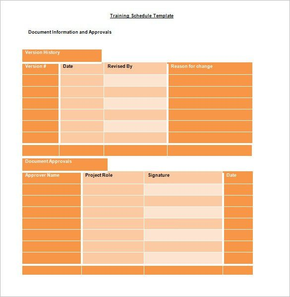 Training Schedule Template – 8+ Free Sample, Example Format ...