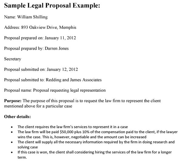 Legal Proposal Template