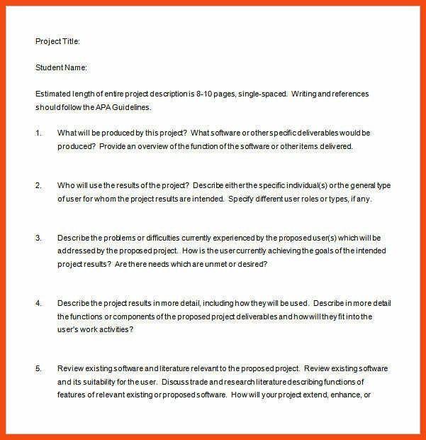 sample project proposal | program format