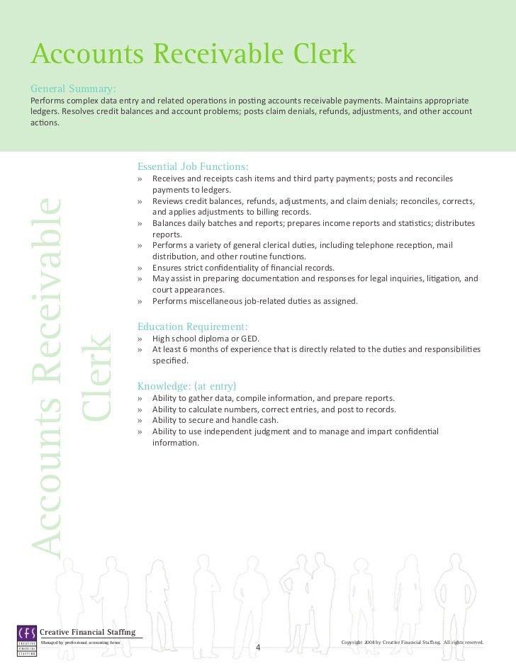 accounts receivable job description sample sample accounting