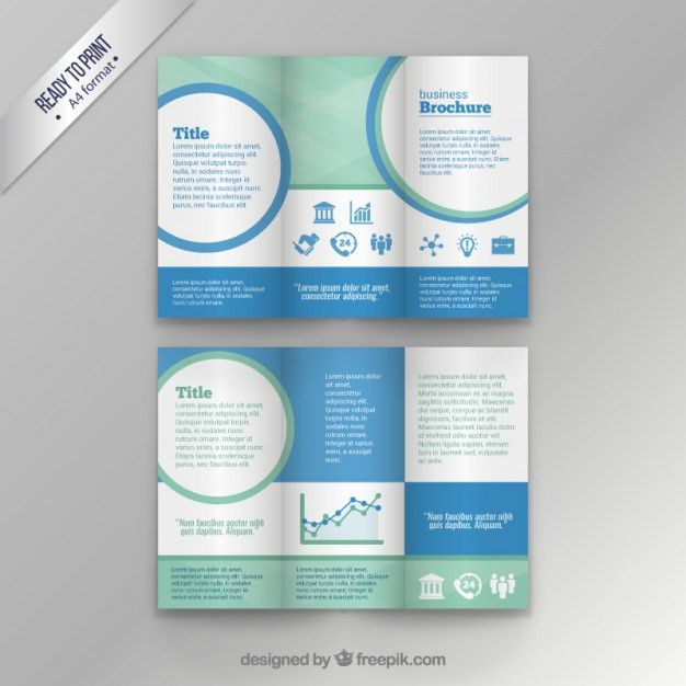 Business brochure template Free Vector | Free Trifold | Pinterest ...