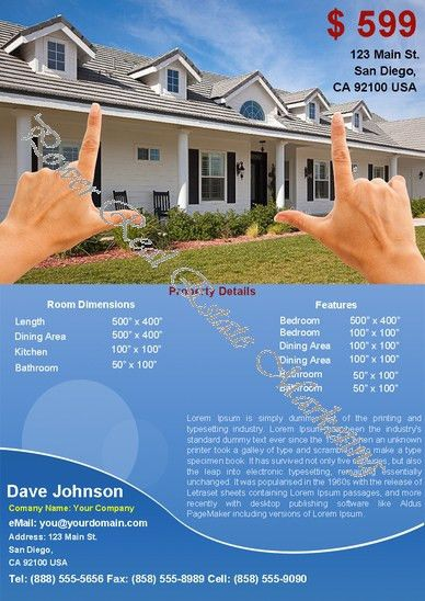 Power Real Estate Marketing - Real Estate Flyers: Single Property ...