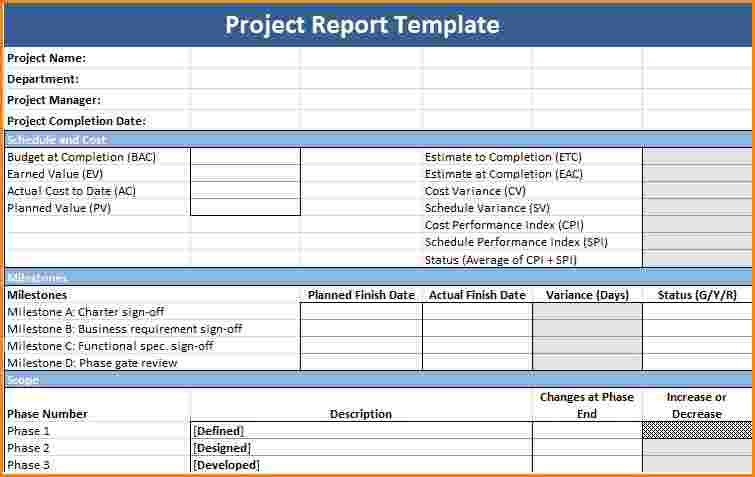 100+ [ Progress Report Template For Construction Project ] | 18 ...