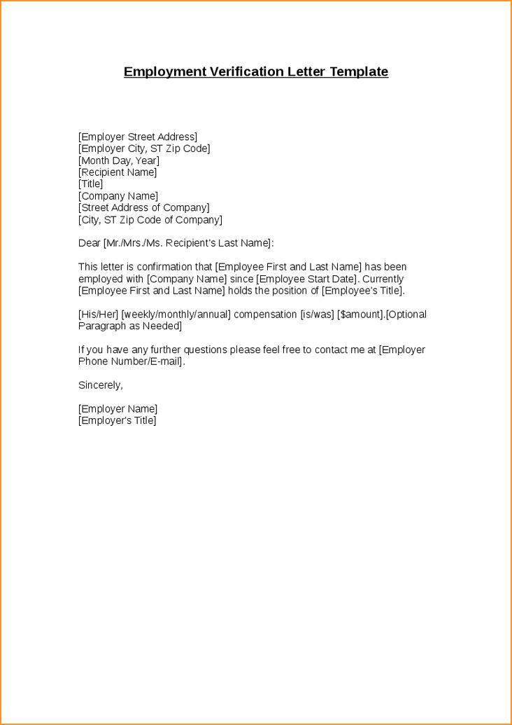 Employment Verification Letter.Sample Employment Verification ...