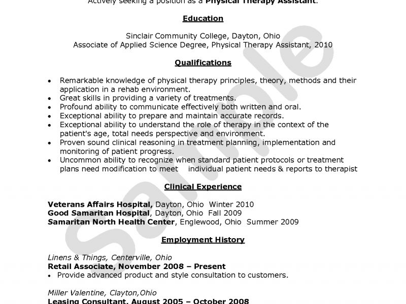 entry level occupational therapy resume template student en ...