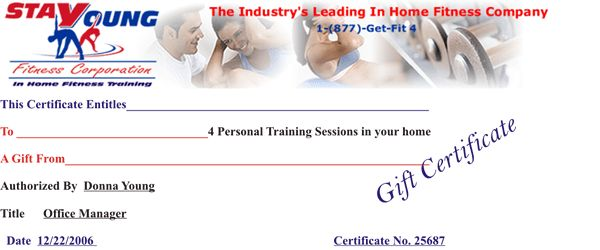 Crossfit Gift Certificate images