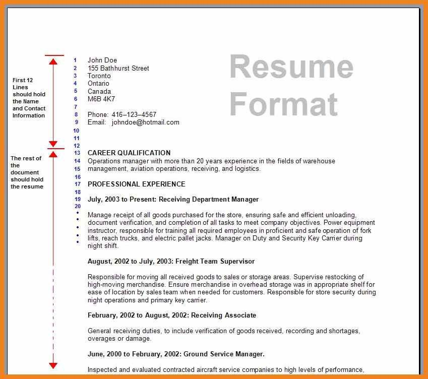 resume types and examples resumes formats four types resumes ...