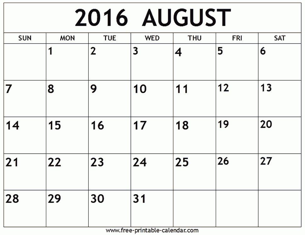 print a calendar in word - Template