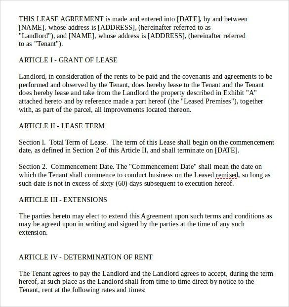 Free Lease Agreement Draft | Create professional resumes online ...