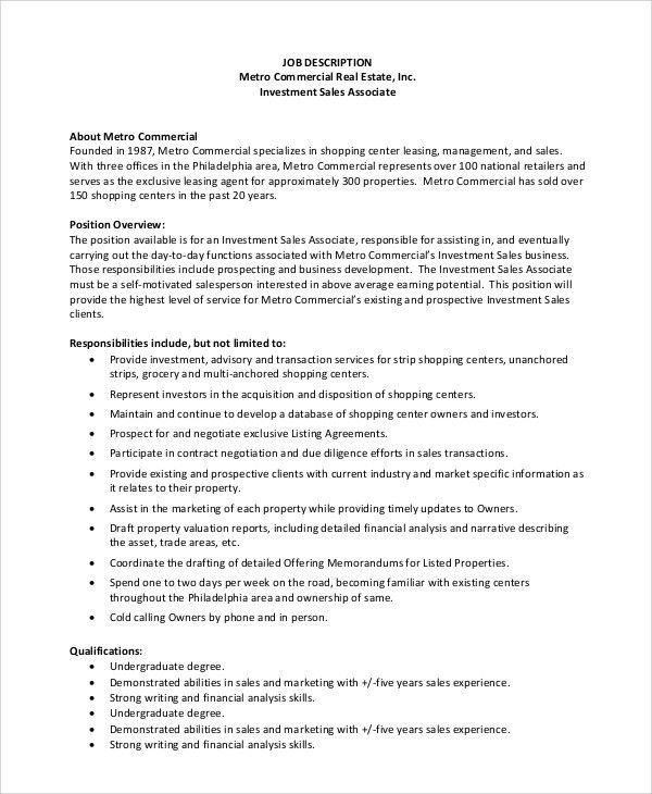 job description of sales associate radiovkm