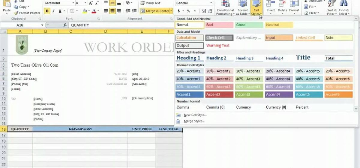 How to Use templates in Microsoft Excel 2010 « Microsoft Office ...