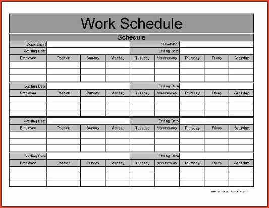 Work Schedule Template. Daily Schedule Free Printable Top 25+ Best ...