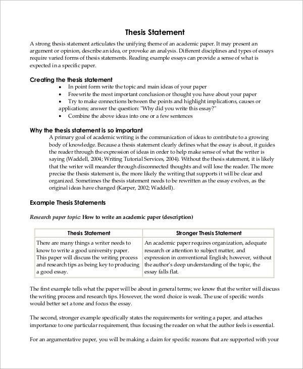 Creationism Essay Example  Essays About Plagiarism also An Essay About My Mother Example Of A Thesis Statement For An Essay  Fieldstationco Cyber Bullying Essay
