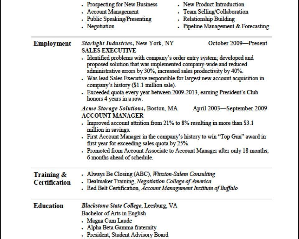 Effective Resumes Samples - Resume CV Cover Letter
