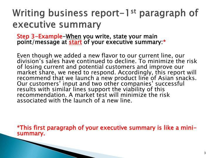 Sample Business Report. Sample Business Trip Report Template Best ...