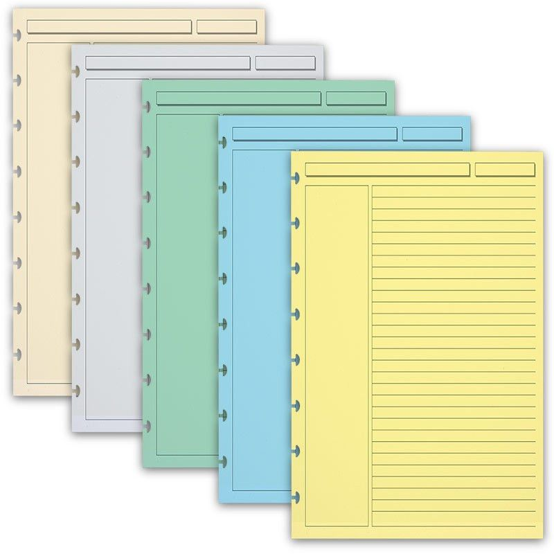 Circa Multicolored Annotation Ruled Refill Sheets - Notebook Paper ...
