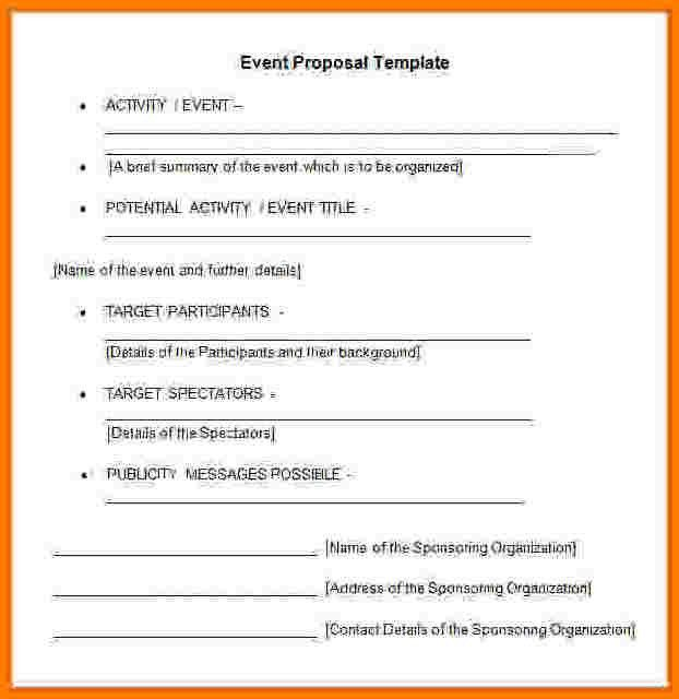 Event Proposal Template Word, 5+ event proposal template word ...