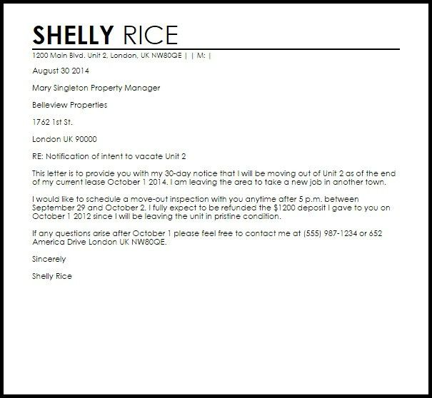 Sample Apartment Lease Termination Letter | The Best Resume