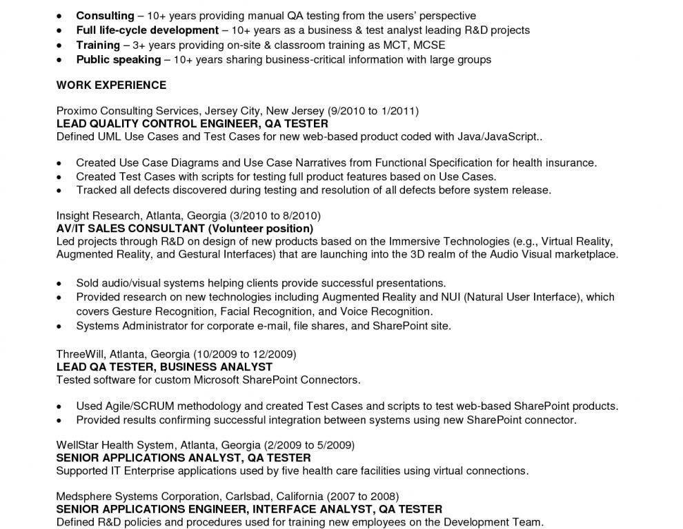 Agile Testing Experience Resume - Contegri.com