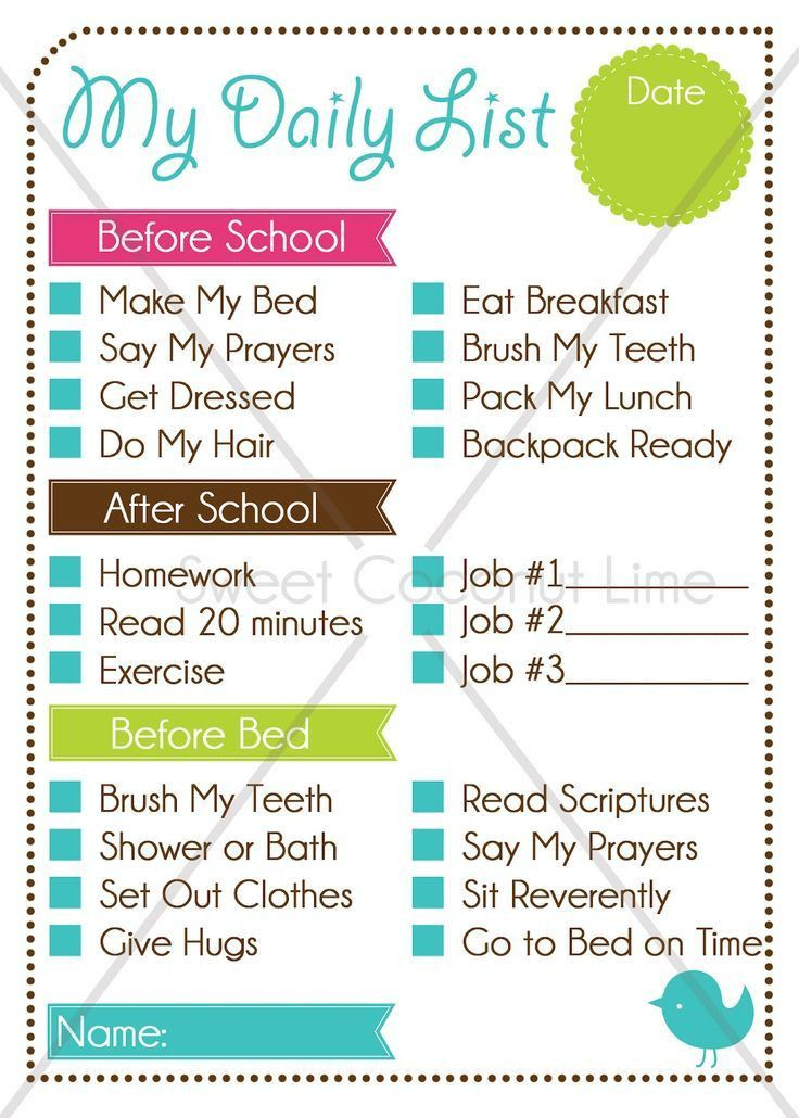 Best 25+ After school checklist ideas on Pinterest | School ...