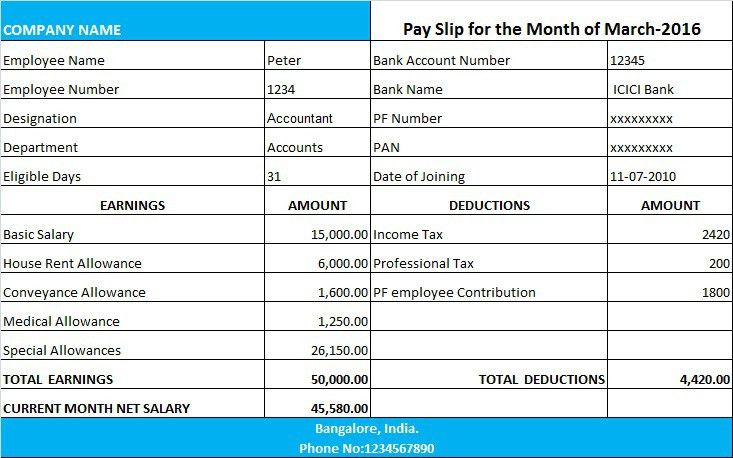 Way To Simple| Payslip Format - Way To Simple