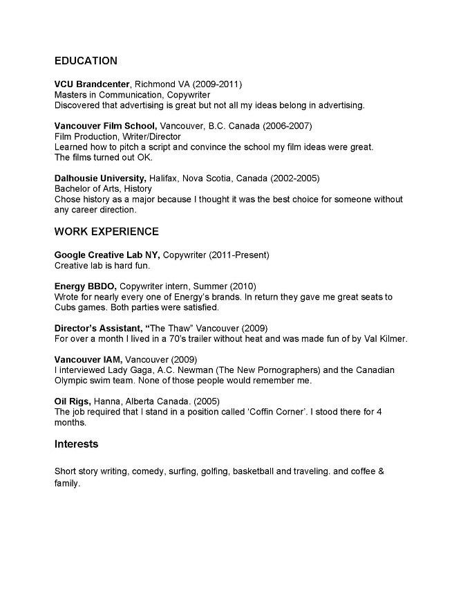 Copy Paste Resume Template 25135 | Plgsa.org
