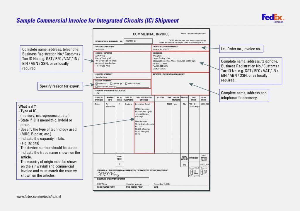 Download Fedex Forms Commercial Invoice   rabitah.net