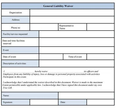 Basic Liability Waiver Form - cv01.billybullock.us