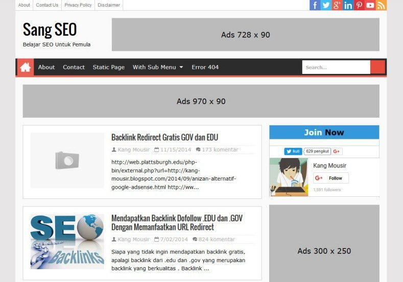 Sang SEO Responsive Blogger Template 2014 Free Blogger Templates