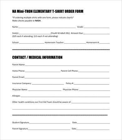 10+ T Shirt Order Forms - Free Sample, Example, Format | Free ...