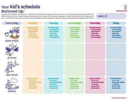 Top 25+ best Kids schedule chart ideas on Pinterest | Daily ...