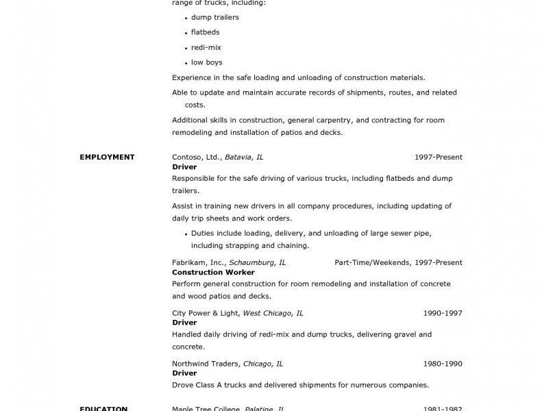Redoubtable Forklift Operator Resume 13 Free Sample For Driver ...
