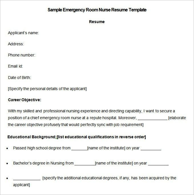Nursing Resume Template – 9+ Free Samples, Examples, Format ...