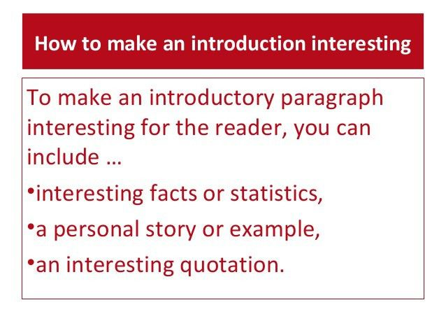E3 m6.1. Introductory paragraphs