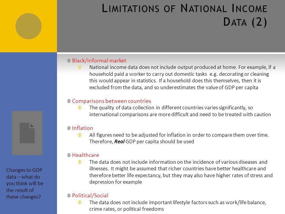 3.4.1 Macroeconomic Indicators Uses of National Income Data AQA ...