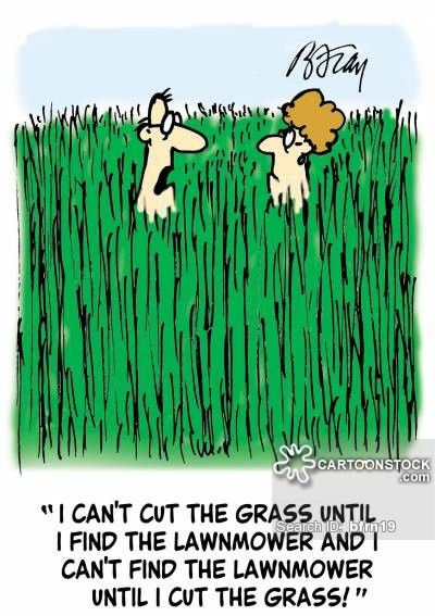 Mowing The Lawn Cartoons and Comics - funny pictures from CartoonStock