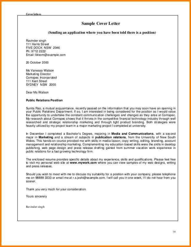 sample cover letter for retail. 4 cover letter for part time job ...