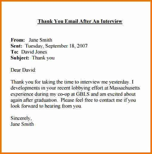 4+ thank you interview email | Expense Report