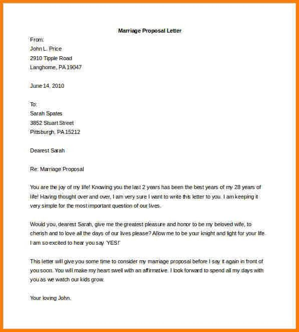 7+ how to write a marriage proposal letter | Proposal Template 2017