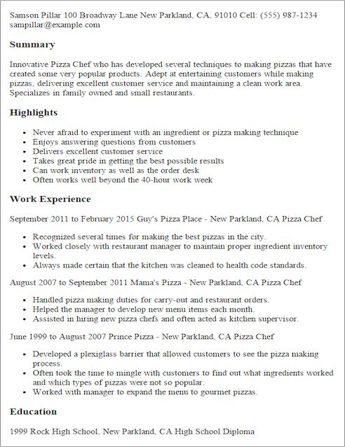 Chinese Chef Cover Letter